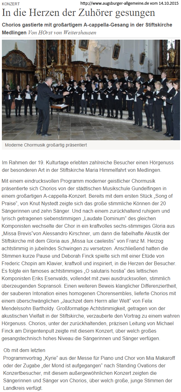 2015-10 Obermedlingen Konzert