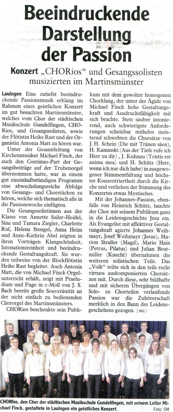 Zeitungsausschnitt - 21-April-2011