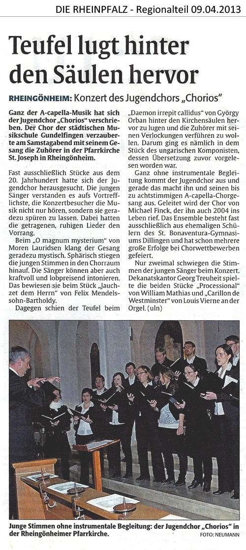 CHORios in Ludwigshafen/Mannheim