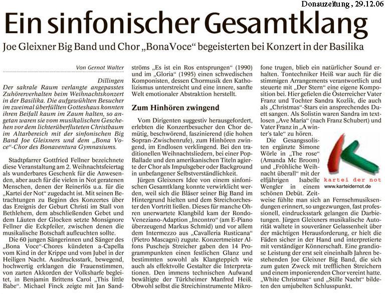 Pressbericht der Donauzeitung